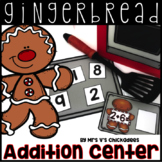 Gingerbread Man Center: Addition to 10