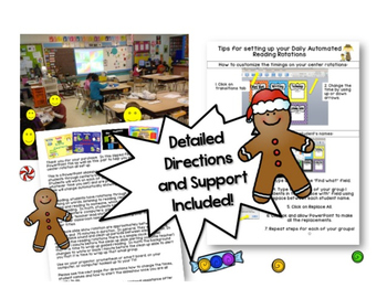Gingerbread Centers for Math Rotations ~ Editable Powerpoint for 4 Math stations