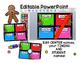 Math Center Rotations Editable Powerpoint Gingerbread Themed