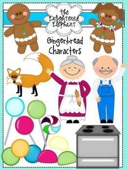 Gingerbread Characters Clip Art