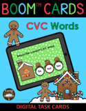 Gingerbread Christmas CVC Words BOOM Cards™