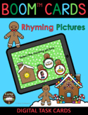 Gingerbread Christmas CVC Words Rhyming Pictures BOOM Cards™