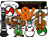 Gingerbread Christmas Clip Art Pack