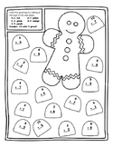 Gingerbread Math Centers Christmas Color by Number Gingerbread Color by Addition
