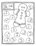 Gingerbread Christmas Math Activities Christmas Color by Number Subtraction Math