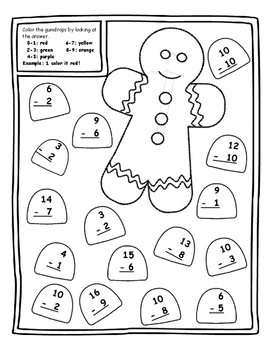 Gingerbread Christmas Math Activities Christmas Color by N