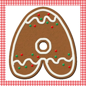 Gingerbread Christmas Cookie Clip Art Alphabet Numbers Symbols Elements