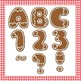 Gingerbread Christmas Cookie Clip Art Alphabet Numbers Sym