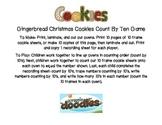 Gingerbread Christmas Cookies Count By Ten Game (Ten Frames)