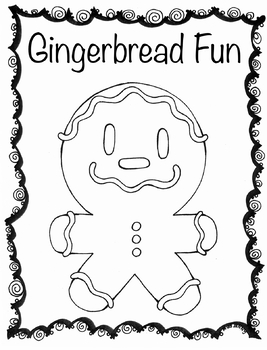 Gingerbread Christmas Fun Coloring Page
