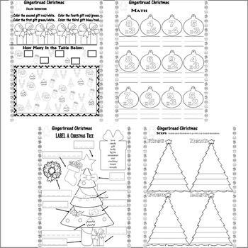 Gingerbread Christmas Jan Brett Comprehension Book Study 17pg Activity Packet