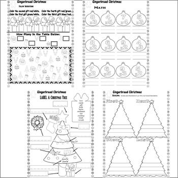 Gingerbread Christmas Jan Brett Comprehension Book Study 17pg Activity Packet