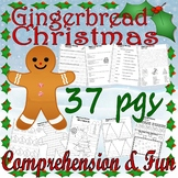 Gingerbread Christmas Jan Brett Comprehension Book Companion Activity Packet 22p