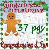 Gingerbread Christmas Jan Brett Comprehension Book Companion Activity Packet 22p