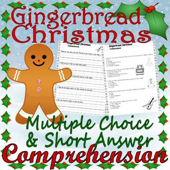 Gingerbread Christmas : Jan Brett : Comprehension Multiple Choice Questions