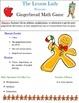 Gingerbread Christmas Math Game