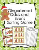 Gingerbread Christmas Odd Even Numbers Sorting Game 1-30