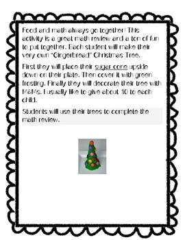 Gingerbread Christmas Tree Math