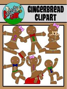 Gingerbread / Christmas / Winter Holiday Clipart - Graphics