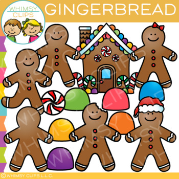 Gingerbread Clip Art {Christmas Clip Art}