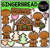 Gingerbread Clip Art Bundle {Educlips Clipart}