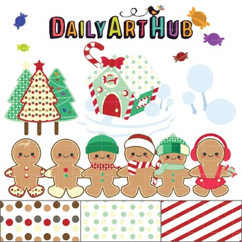 Gingerbread Clip Art - Great for Art Class Projects!