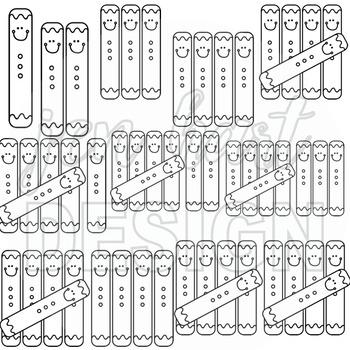 Gingerbread Clip Art - Math Tally Marks {jen hart Clip Art}