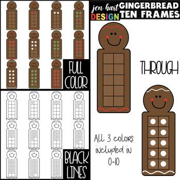 Gingerbread Clip Art - Math Ten Frames {jen hart Clip Art}
