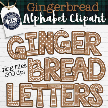 Gingerbread Clipart Letters