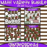 Gingerbread Clipart - Math Variety Bundle {Jen Hart Clipart}