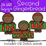 Gingerbread Clipart - Second Sight Word Clip art  {Jen Har