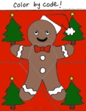 Gingerbread Color By Code! Customizable!