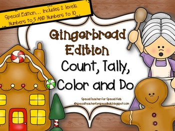 Gingerbread * Color, Count, Tally & Do- Instant and Intera