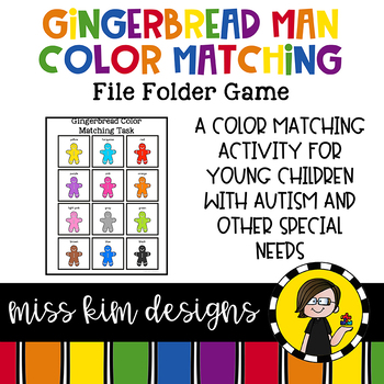 Gingerbread Color Match Folder Game for Early Childhood Special Education
