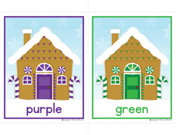 Gingerbread Color Match and Size Sorting Activitiy