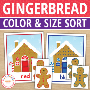 Gingerbread Activities | Gingerbread Man Color Match and Size Sorting Activity
