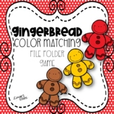 Gingerbread Color Matching File Folder Game