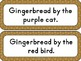 Gingerbread Color Words Fun!