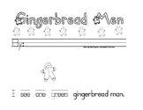 Gingerbread Color and Number Word Booklet