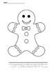 Gingerbread Coloring Activity