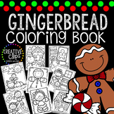 Gingerbread Coloring Book {Made by Creative Clips Clipart}