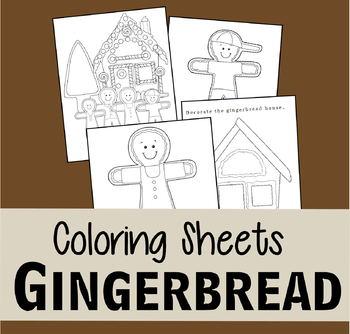 Gingerbread Coloring Sheets