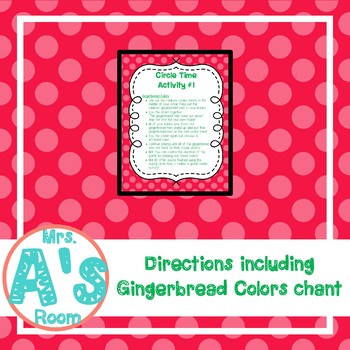 Gingerbread Colors Circle Time Game