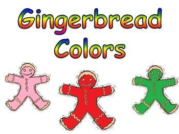 Gingerbread Colors Shared Reading PowerPoint Kindergarten- 1st Grade