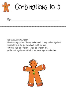 Gingerbread Combinations to 5 booklet