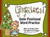 Gingerbread Common Core Positional Word Daily Writing Activity