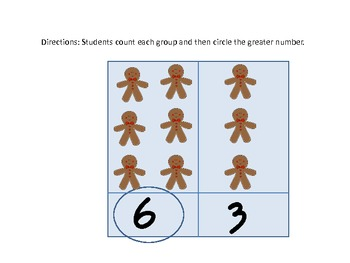 Gingerbread Comparing Numbers Center