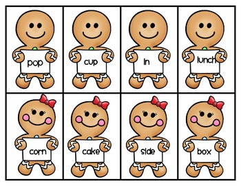 Gingerbread Compound Words Center