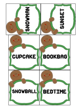 Gingerbread Compound Words-Write the Room