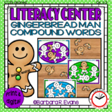 COMPOUND WORDS LITERACY CENTER Gingerbread Man Activities Word Work Christmas